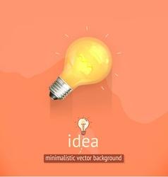Idea minimalistic background vector image