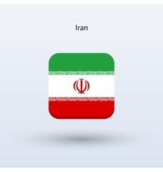 Iran flag icon vector image