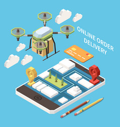 isometric delivery concept vector image