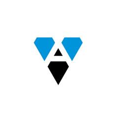 letter v and a va logo icon design vector image