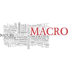 Macro word cloud concept vector