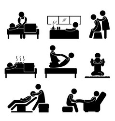 massage spa therapy wellness aromatherapy icon vector image