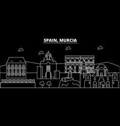 Murcia silhouette skyline spain - murcia vector