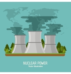nuclear plant in colorful design vector image