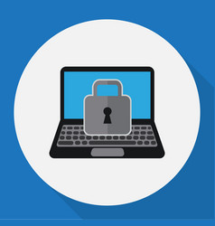Of security symbol on laptop vector