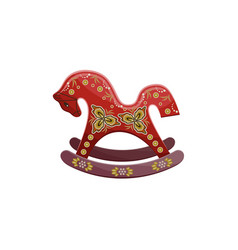 Old vintage horse rocking chair vector