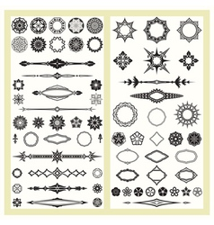 Ornaments and decorative elements vector