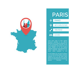 Paris map infographic vector