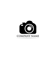 photography logo black vector image