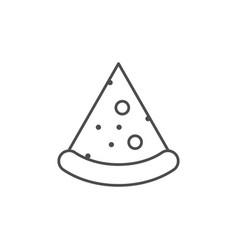 Pizza slice line outline icon vector