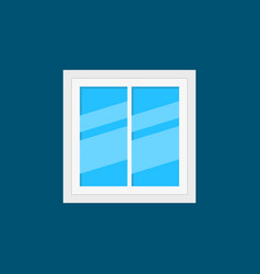 plastic window flat icon or design element vector image