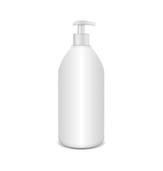 realistic cosmetic plastic bottle with dispencer vector image