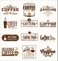 retro vintage coffee design collection vector image