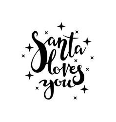 santa loves you vector image