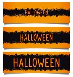 Set halloween grunge banners vector