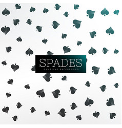 spades background of playing cards vector image