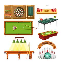 Sport game darts billiards pool tennis vector