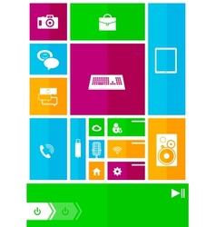 Square user interface vector image