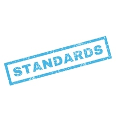 Standards Rubber Stamp vector image