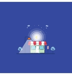Store at the night landscape vector