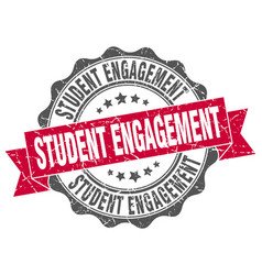 student engagement stamp sign seal vector image
