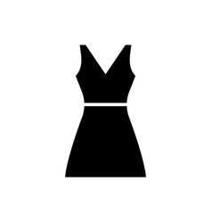sundress icon black sign on vector image