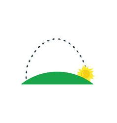 Sunrise icon vector