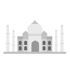 Taj mahal icon isolated vector