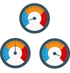 Temperature gauge used in cooking grill with the vector