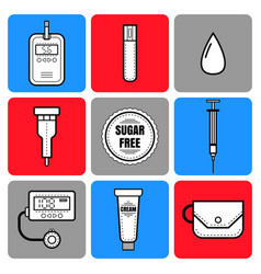 Test strip drop blood syringe and glucose vector