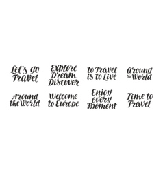 Travel adventure set Handwritten vector image