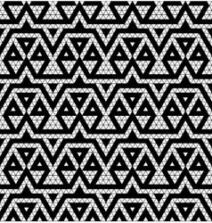 Tribal monochrome lace vector