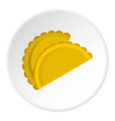 Two empanadas icon circle vector