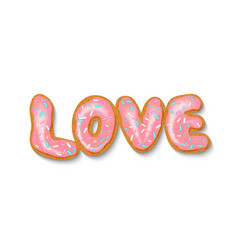 valentine day love inscription vector image