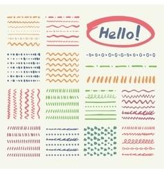 Vintage Marker strokes set vector