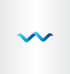 Water wave spiral letter w logo icon vector