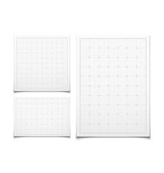 White isolated square grid set with shadow vector