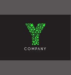 y letter bubble green logo icon design vector image