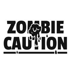 Zombie horror logo simple black style vector