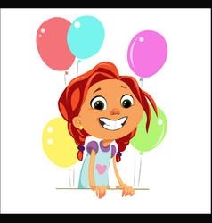 digital funny cartoon happy cute vector image vector image