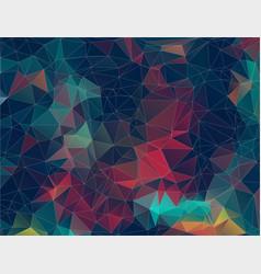 flat retro triangle background geometric shapes vector image