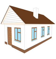 new house with chimney vector image