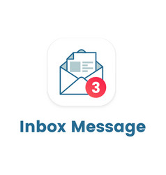 notification icon on open letter concept of ui vector image vector image