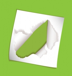 paper element rip hole vector image vector image