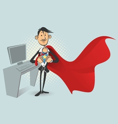 office superhero vector image vector image