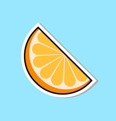 Orange segment marmalade icon sweets sticker vector