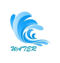 Wave symbol with flowing and curving water vector image