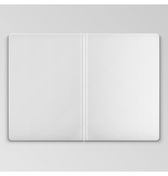 White Open Book Cover Template vector image vector image