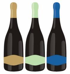 champagne bottles set vector image vector image