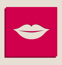 lips sign grayscale version vector image